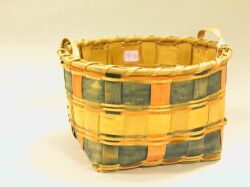 Painted Woven Splint Basket.