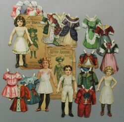 Four Selchow and Righter Paper Dolls
