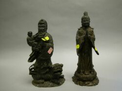 Two Chinese Bronze Figures.