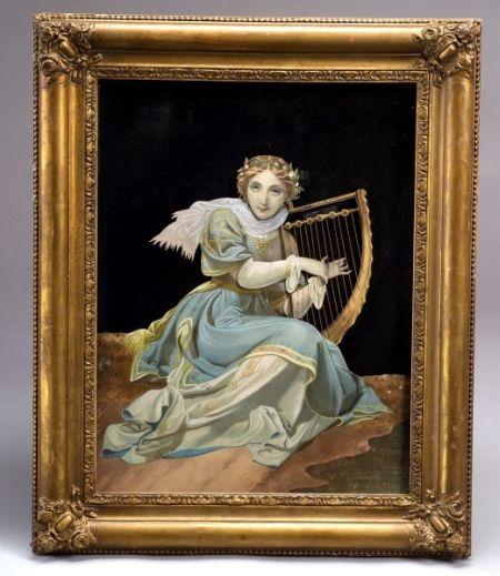 Bremond Tableau Mecanique of a Harpist