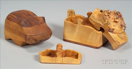 Two Wooden Trinket Boxes