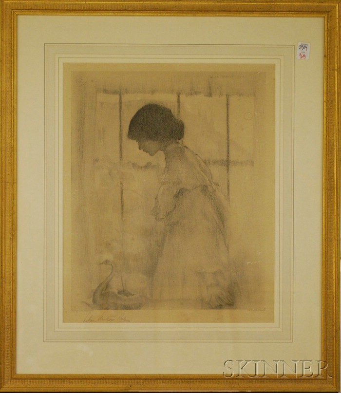Lillian Westcott Hale Print Portrait of a Girl