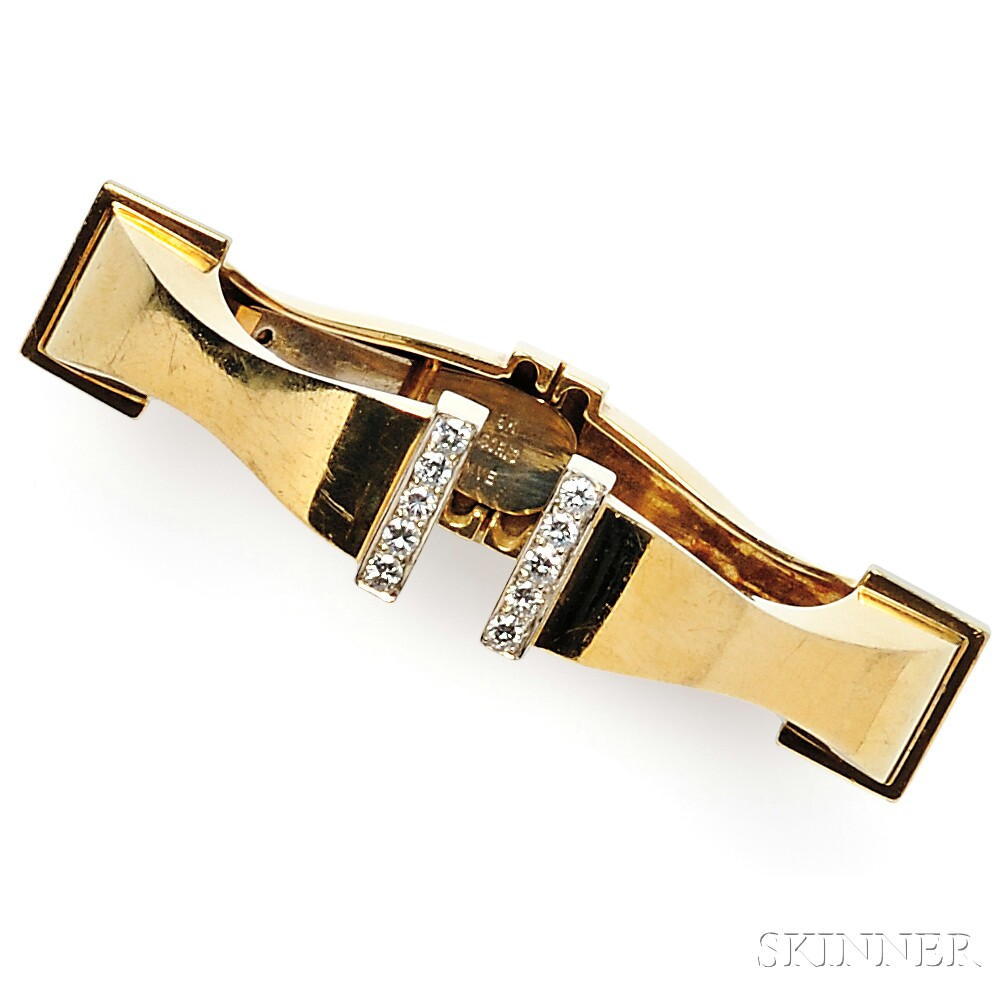 18kt Gold and Diamond Bracelet, Boris LeBeau