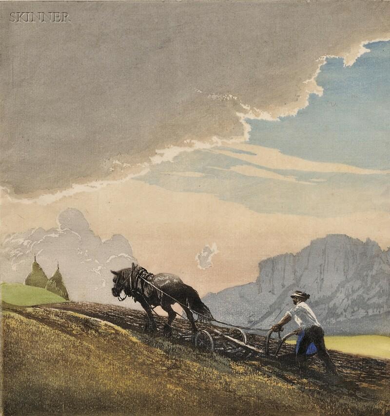 Hans Frank (Austrian, 1884-1948)      Plowing