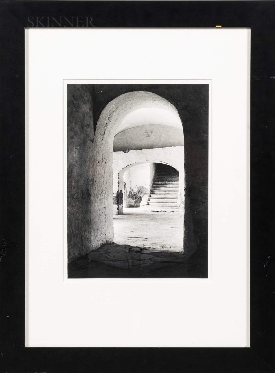 Tina Modotti (Italian, 1896-1942)      Convent of Tepotzotlan, Mexico (Stairs through Arches)
