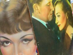 Group of 1930s Movie Theater Lobby Art Panels and Fragments
