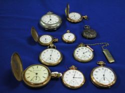 Group of Ten Pocket Watches
