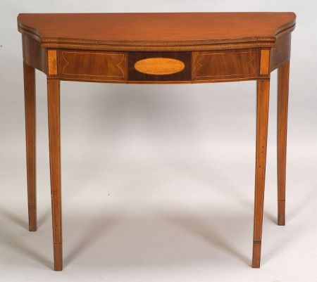 Federal Mahogany and Inlaid Card Table