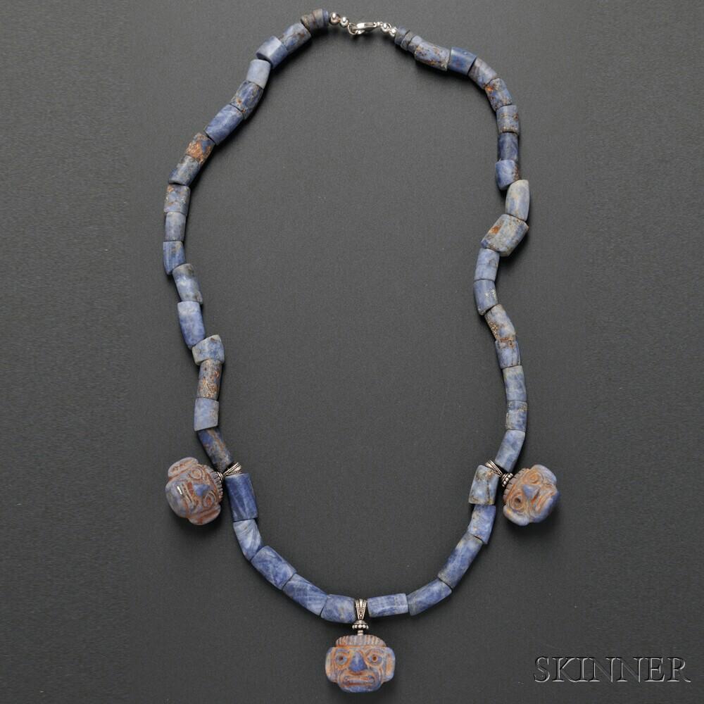 Moche Sodalite Necklace
