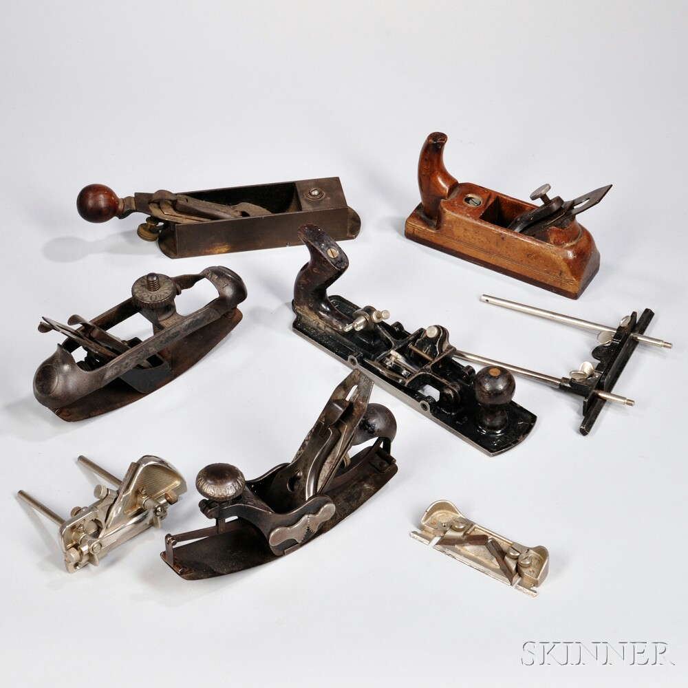 Seven Various Woodworking Planes