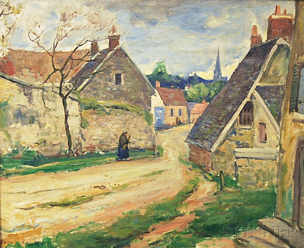 Attributed to Arthur Hill Gilbert (American, 1894-1970)      Old House, Vernonnet, France