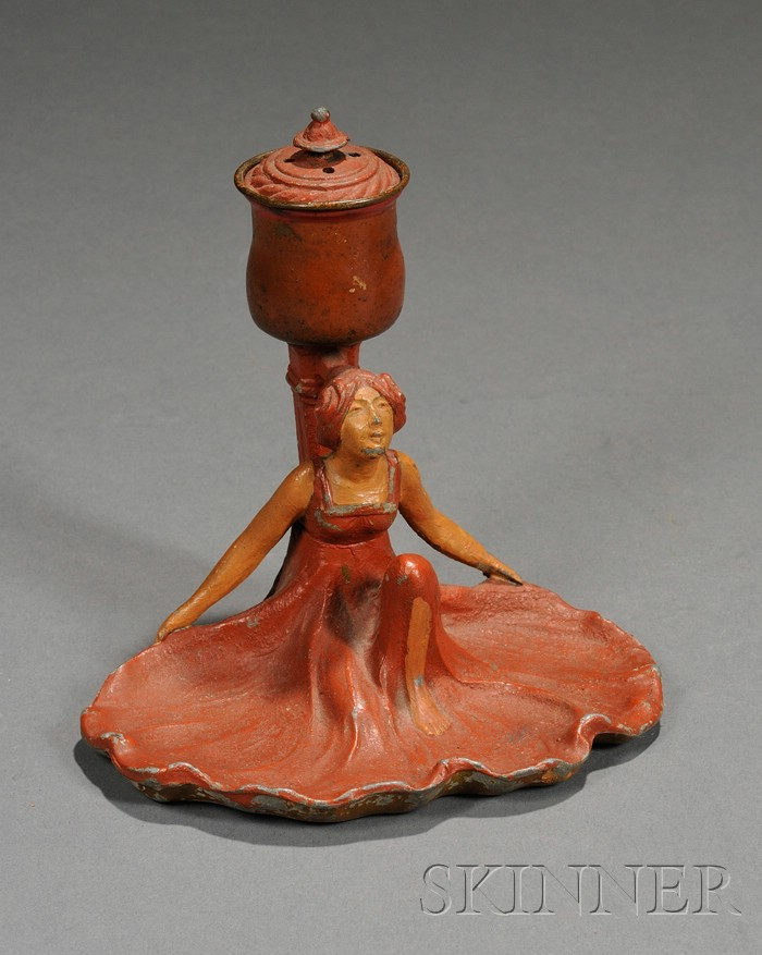Art Nouveau Figural Inkwell