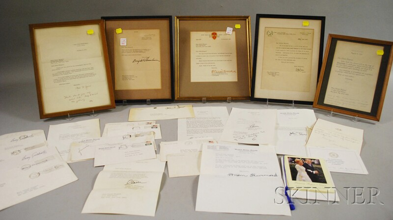 Assorted U.S. Political and Military Related Signed Letters and Notes