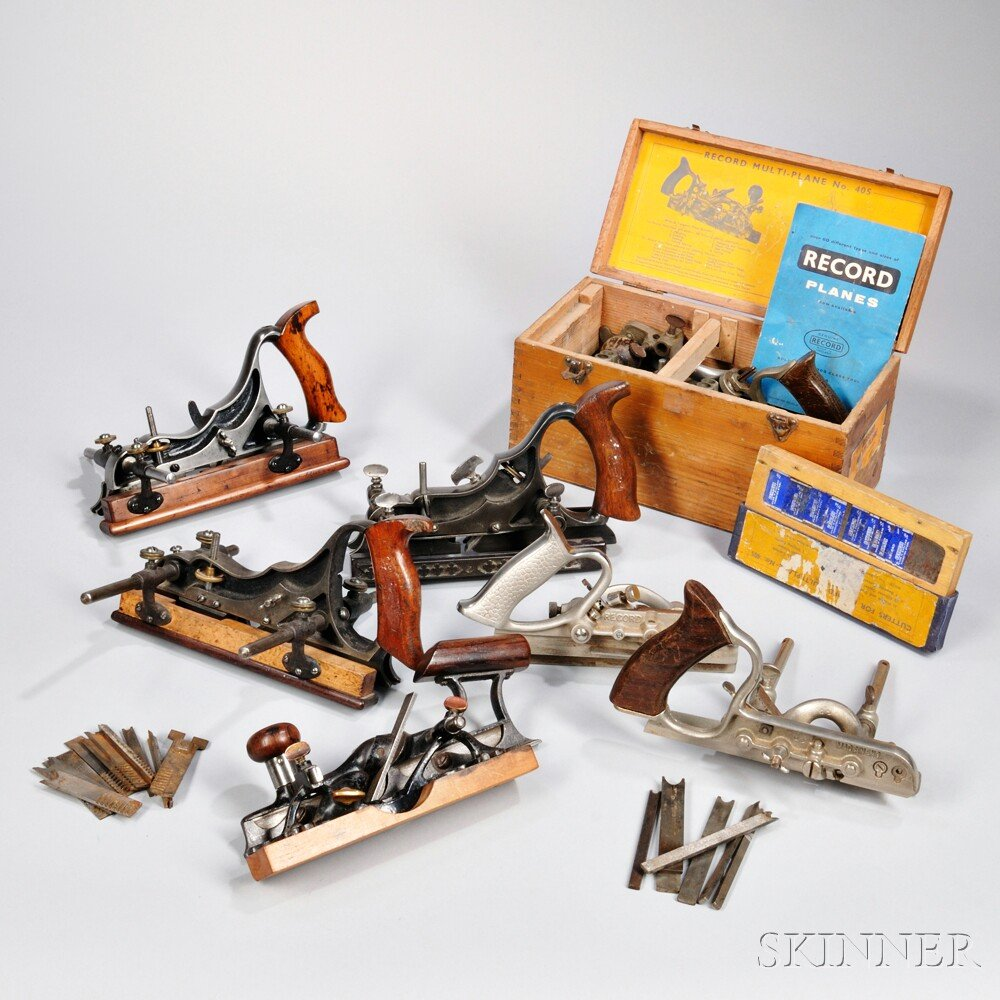 Seven Plough or Combination Hand Planes