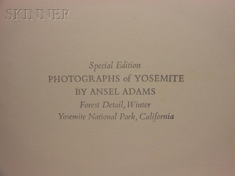 Ansel Adams (American, 1902-1984)      Forest Detail, Winter, Yosemite National Park, California