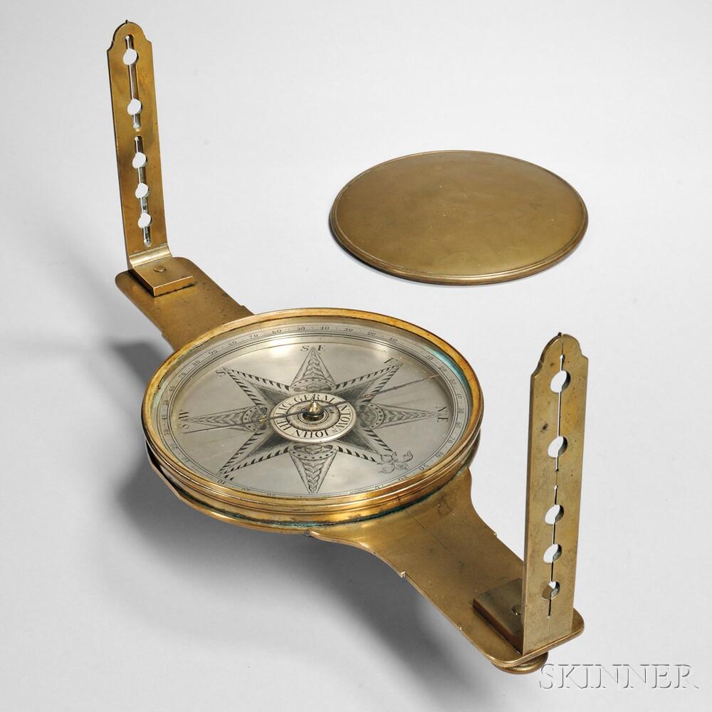 John Heilig Brass Surveyor's Compass