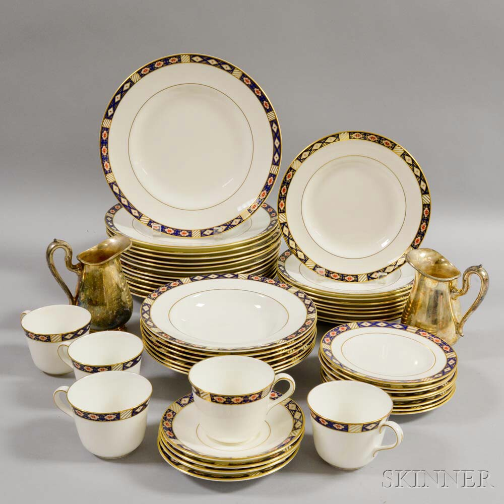 "Extensive Royal Crown Derby ""Kedleston"" Dinner Service.     Estimate $300-500"