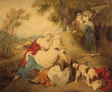 Attributed to Francis Wheatley (British, 1747-1801)    Haymakers at Rest