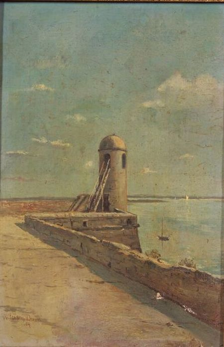 William Staples Drown (American, d. 1915)    Wald Tower, Farr San Marco, St. Augustine, Florida