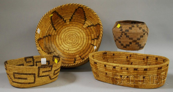 Four Papago Baskets