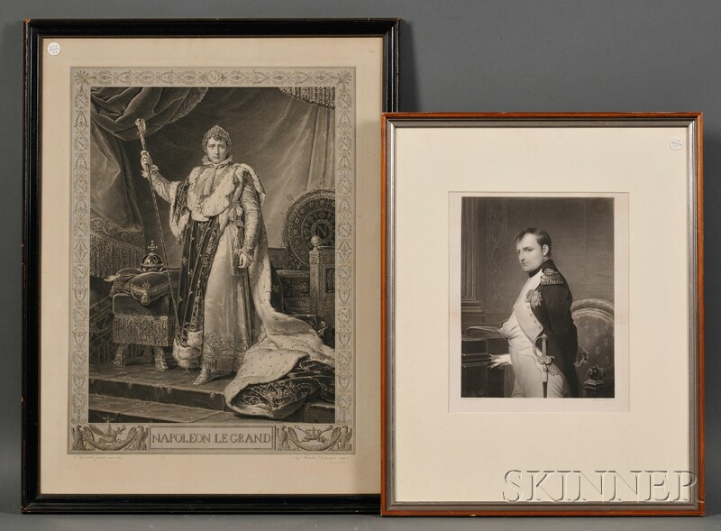 Lot of Two Framed Portrait Engravings of Napoleon
