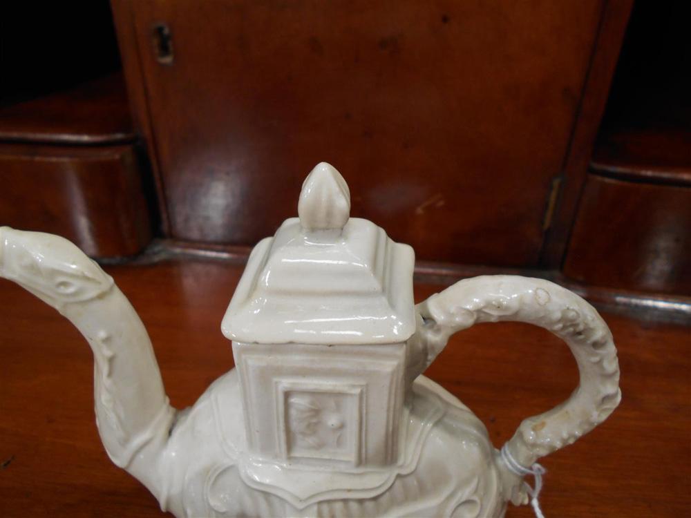 Staffordshire Salt-glazed Stoneware Camel Teapot and Cover