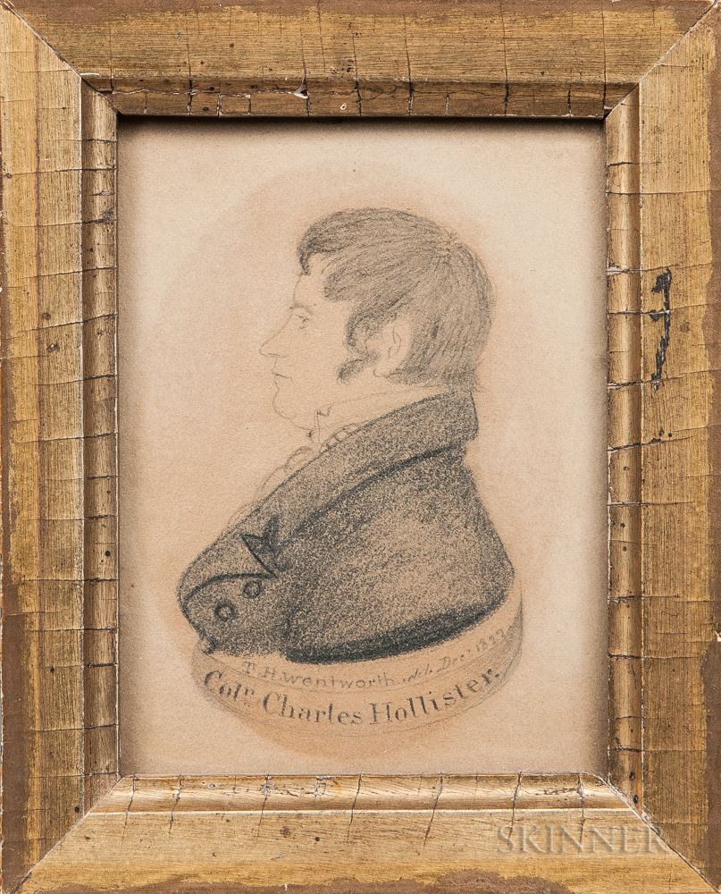 Thomas Hanford Wentworth (Connecticut/Canada, 1781-1849)      Portrait of Colonel Charles Hollister