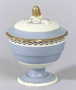 Pearlware Covered Sugar Bowl