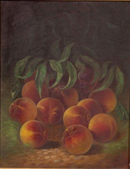 Carducius Plantagenet Ream (American, 1837-1917)    Still Life with Peaches