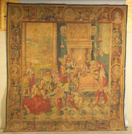 Large Continental Tapestry Cartoon
