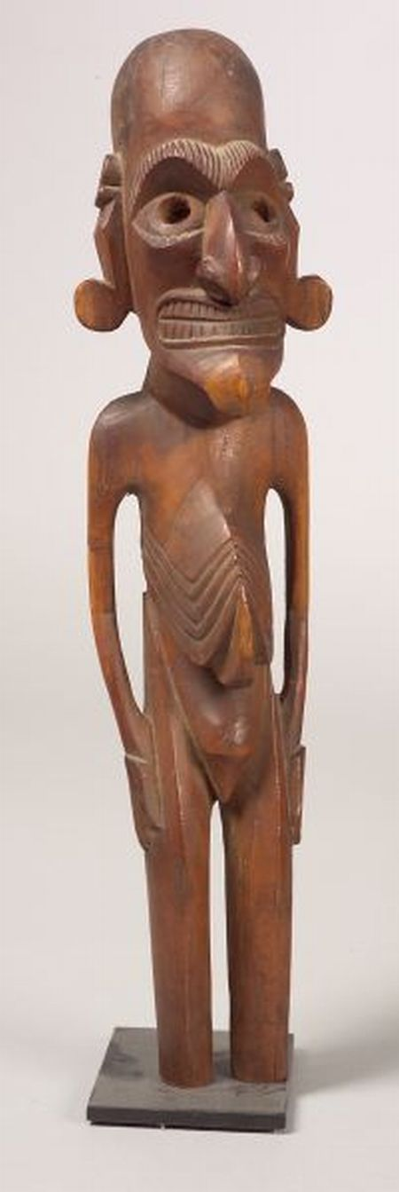 Easter Island Carved Wood Male Figure