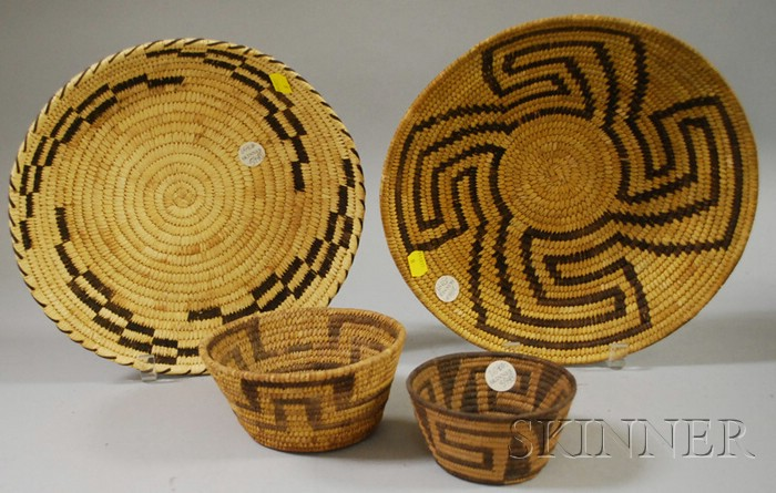 Four Southwest Basketry Items