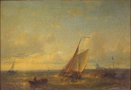 Attributed to Johannes Frederick Hulk (Dutch, 1829-1911)    Off the Shore