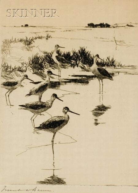 Frank Weston Benson (American, 1862-1951)    Yellowlegs Number Three