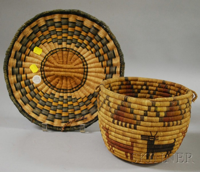 Two Southwest Native American Baskets