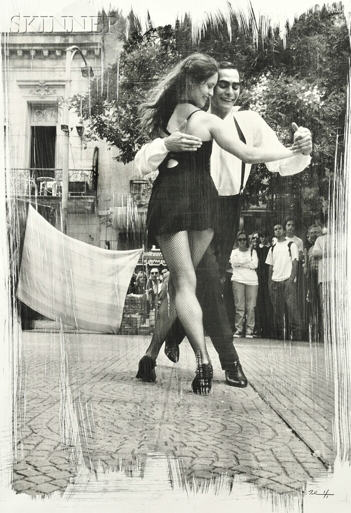 Paul Ickovic (Czech, b. 1944)      Tango Dancers, Buenos Aires, 1980.
