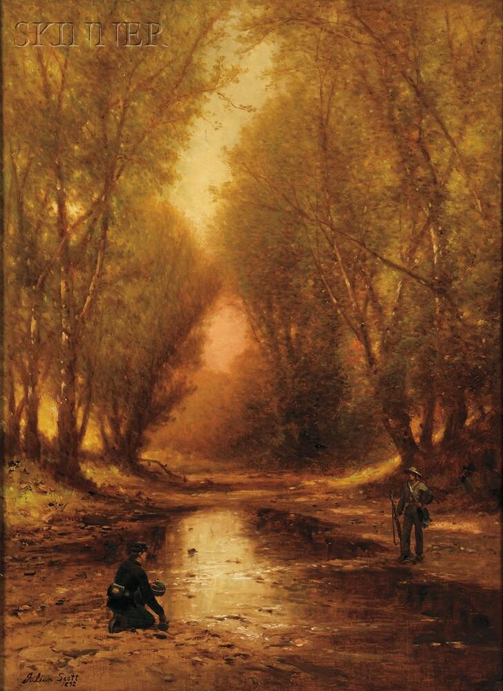 Julian Scott (American, 1846-1901)      Yankee and Rebel