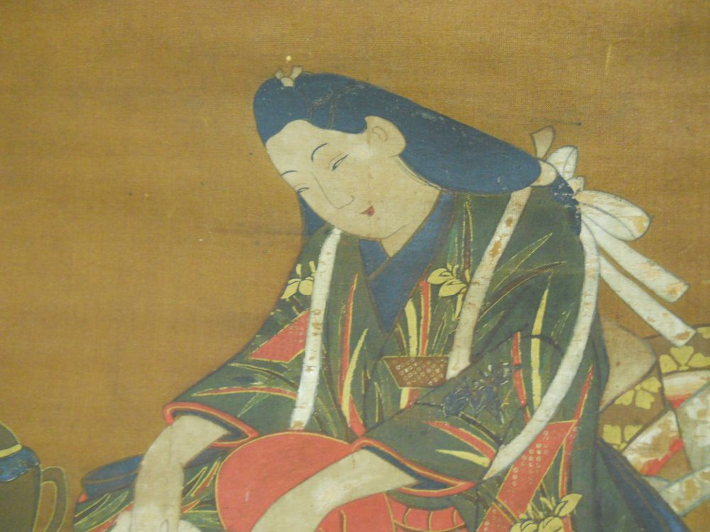 Three Hanging Scroll Paintings