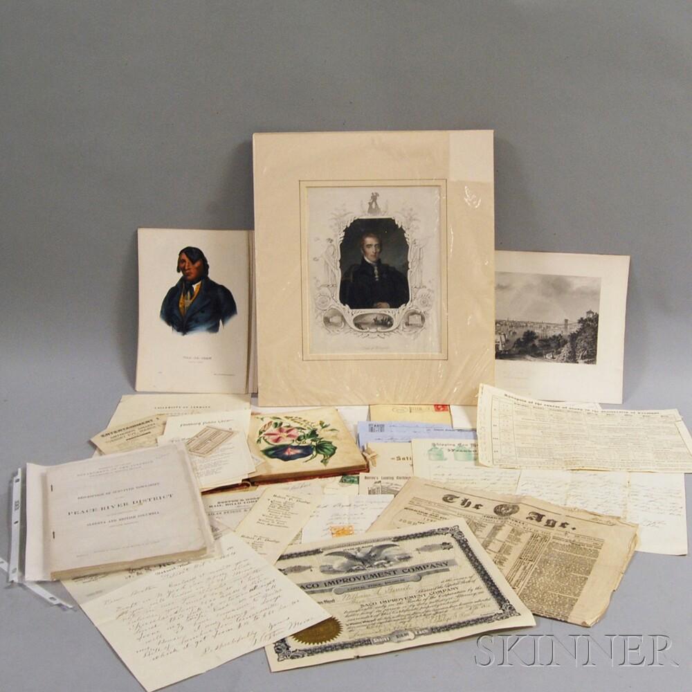 Miscellaneous Group of Printed Ephemera