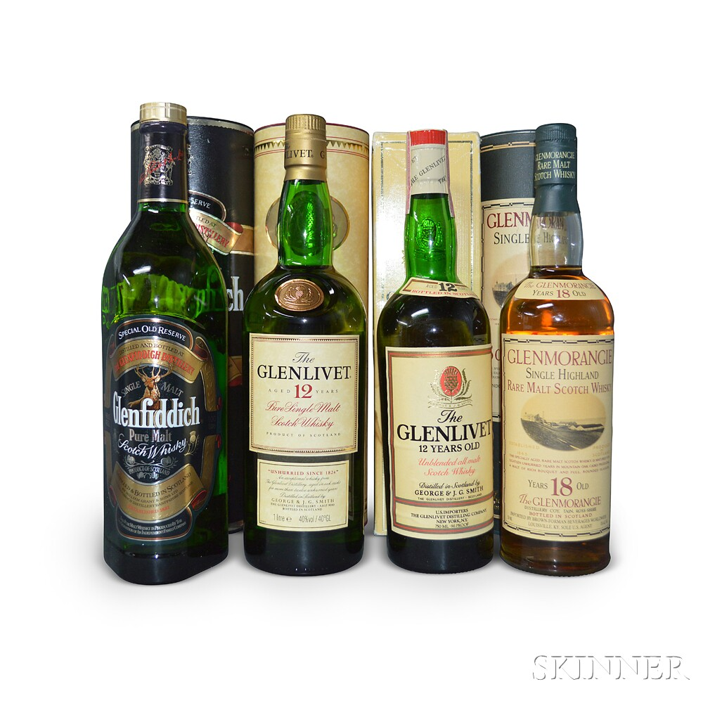 Mixed Single Malt Scotch, 2 750ml bottles2 liter bottles
