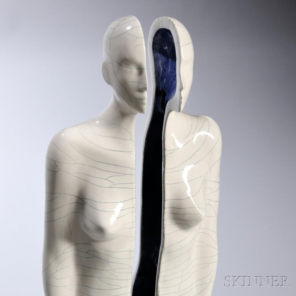 Emil Alzamora (Peruvian/American, b. 1975) Pottery Sculpture Sea