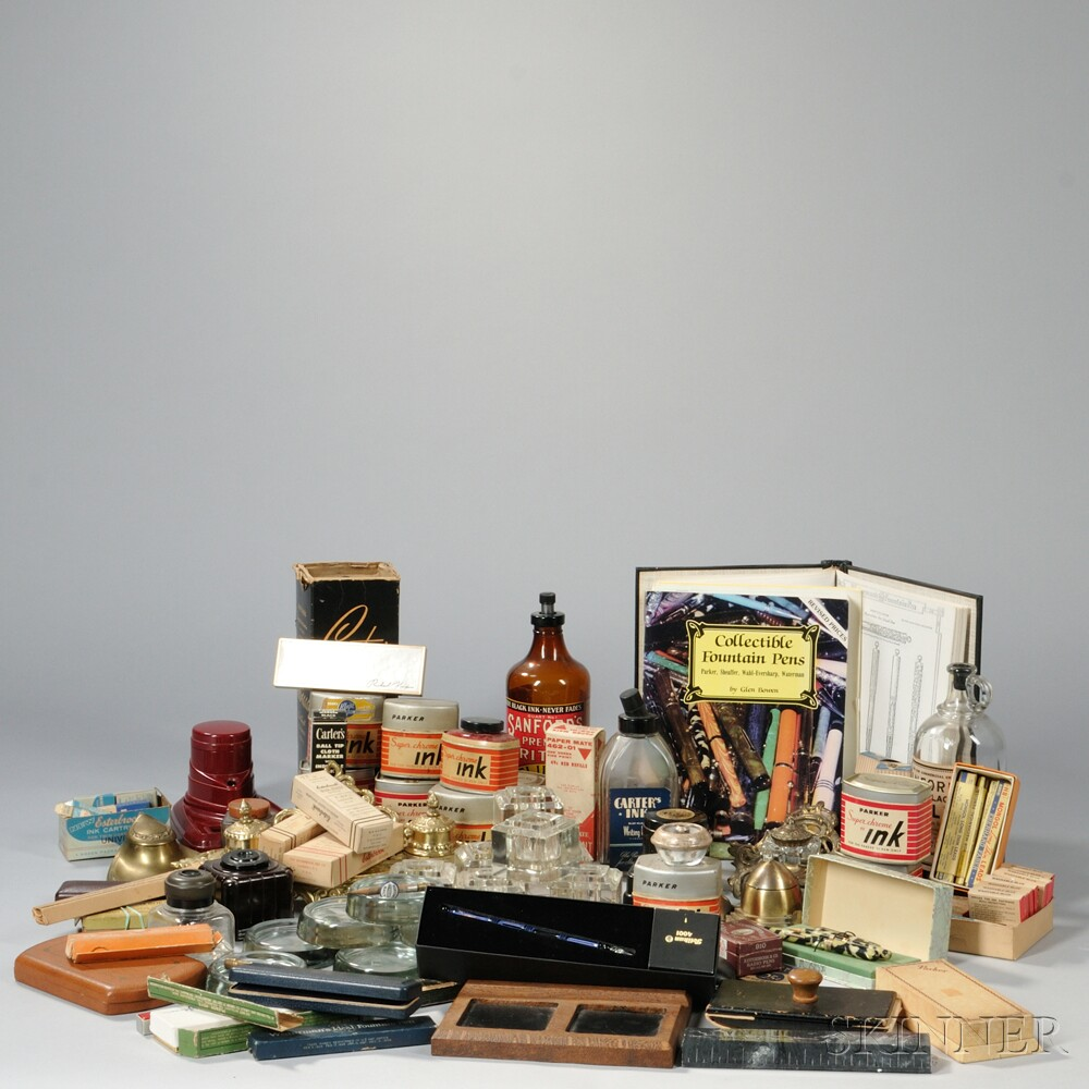 Inkwells, Pen Boxes, and Pen-related Supplies