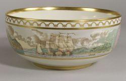 Royal Copenhagen Porcelain Commemorative Bicentennial Punch Bowl