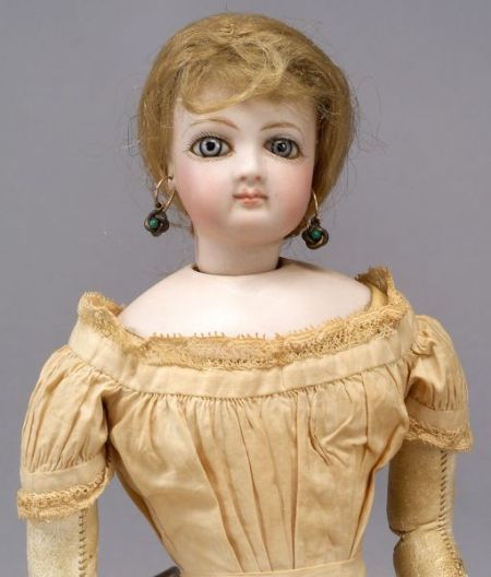 French Bisque Swivel Neck Lady Doll