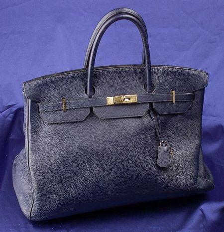 "Indigo Togo Leather ""Birkin"" Handbag, Hermes"