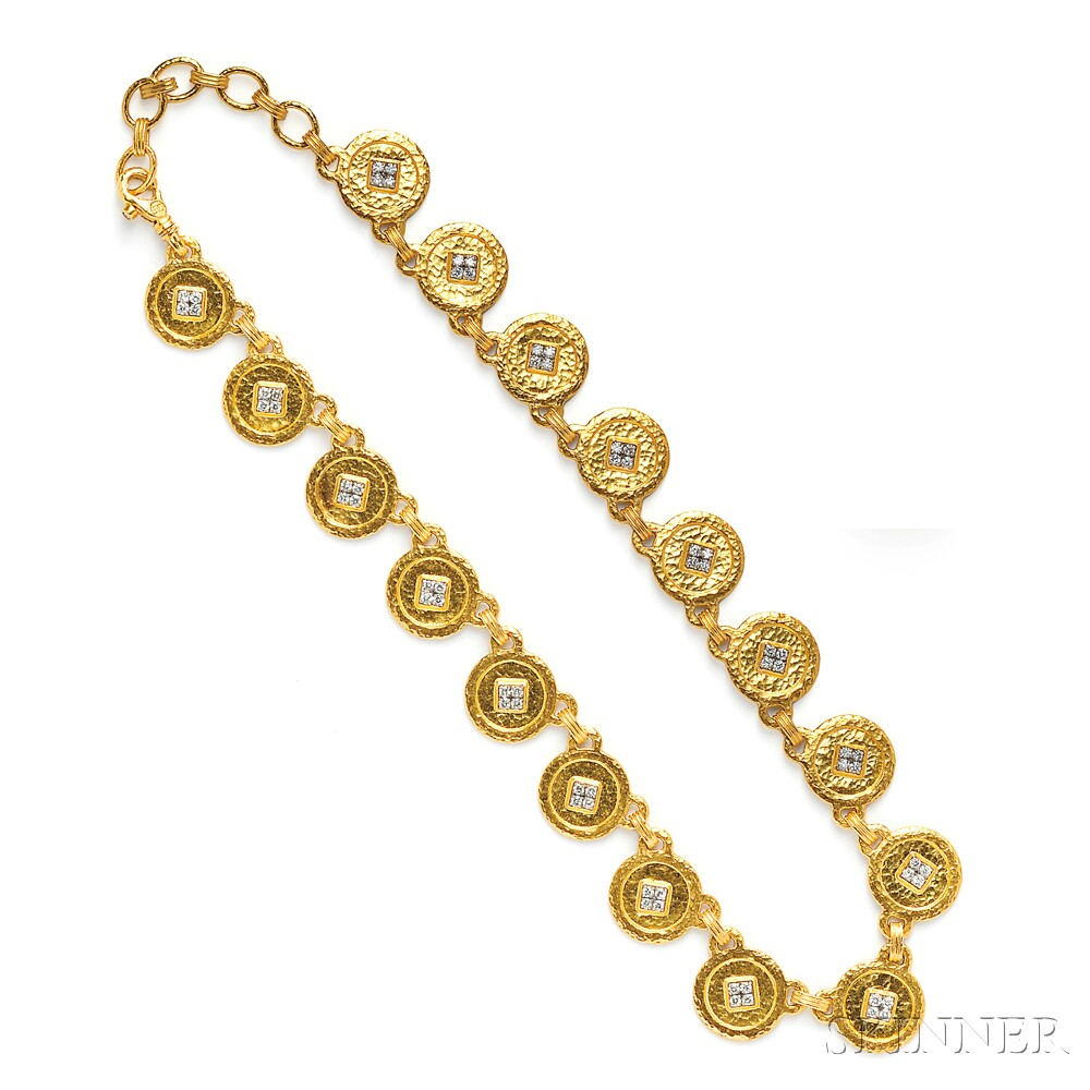 24kt Gold and Diamond Necklace, Gurhan