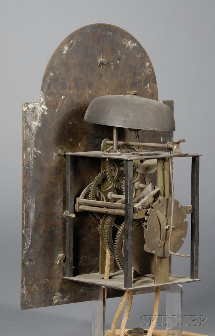 Brass Clock Movement and Dial by Samuel Mulliken