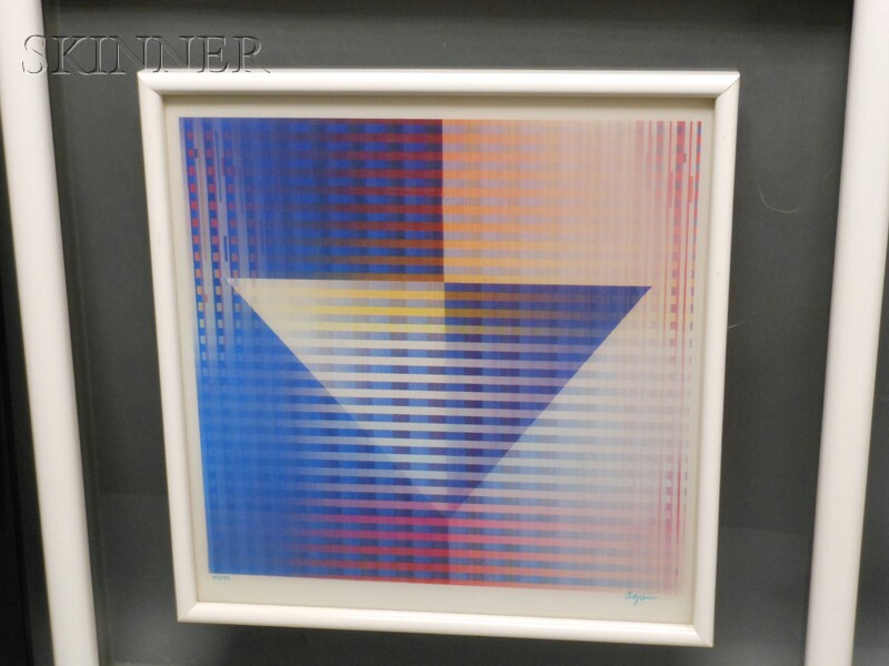 Yaacov Agam (Israeli, b. 1928)      Two Images from the BIRTH OF THE STAR   Series: