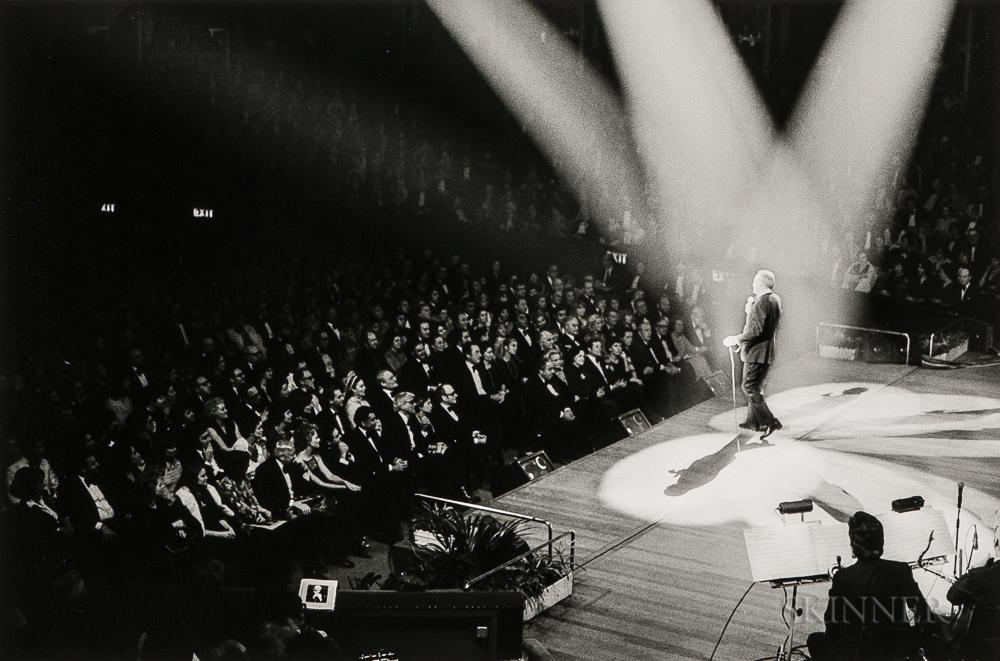 Terry O'Neill (British, b. 1938)      Frank Sinatra Serenades His Ex-Wife Ava Gardner at the Royal Albert Hall, London