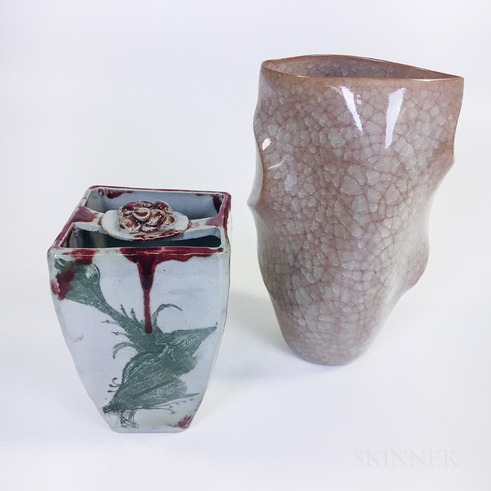 Akihiko Watanabe Studio Pottery Vase